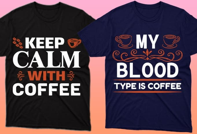 When the blood is half coffee, just like these T-shirts.