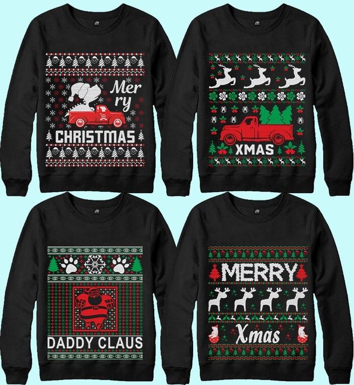 70 Printable Ugly Christmas Sweater Design Bundle - 3 25