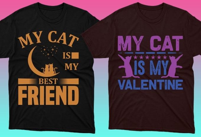 Cat Shirts: 50 Cat T-shirt Designs Bundle - 3 44