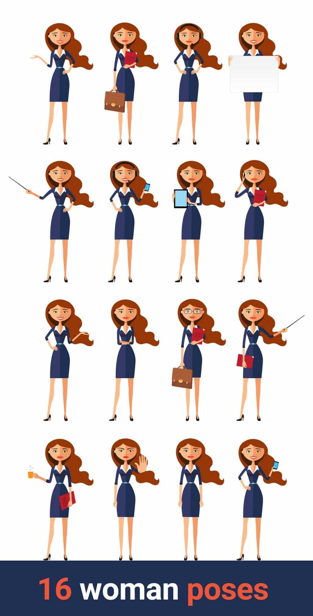 Cartoon Character Woman: Business Edition - 37abdef8a48969151da9ea91ff148667 resize