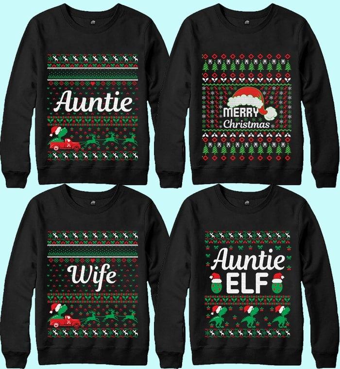 70 Printable Ugly Christmas Sweater Design Bundle - 4 15