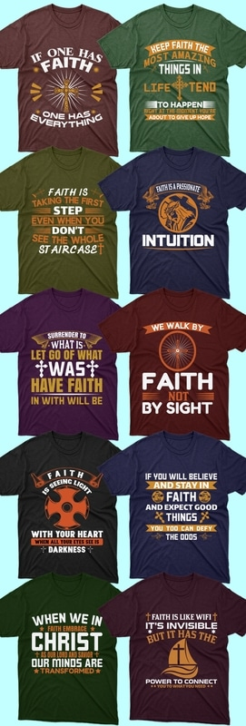 50 editable Christian T-shirt Design Bundle - 4 17