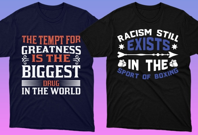 50 Boxing Shirt Designs Bundle: Sport Shirt Design - 4 28