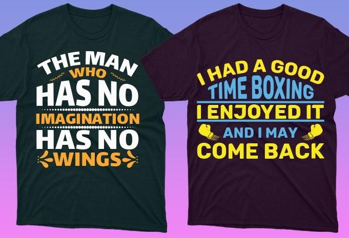 50 Boxing Shirt Designs Bundle: Sport Shirt Design - 5 29