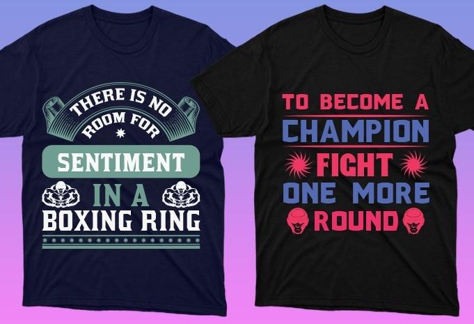 50 Boxing Shirt Designs Bundle: Sport Shirt Design - 6 27
