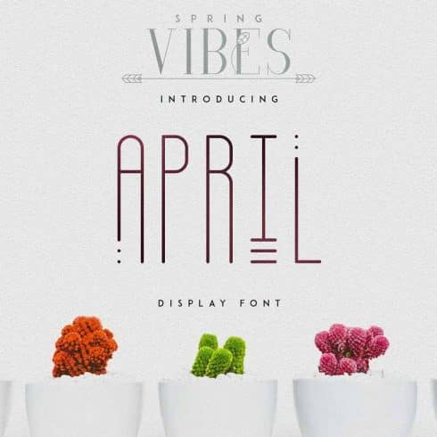 April Display Font - $11 ONLY - 600 1 490x490