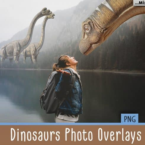 How to Draw Dinosaurs: Dinosaurs Photo Overlays Pack - 600 12 490x490