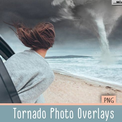 Tornado Design: 12 Tornado Photo Overlays PNG [Photoshop Add-Ons ] - 600 16 490x490