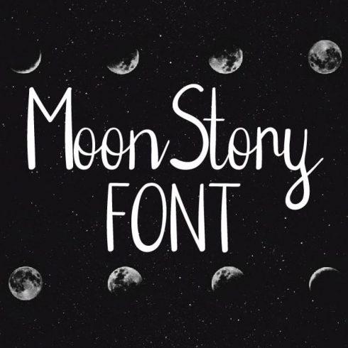 Moon Font - Handwritten Font - 600 8 490x490