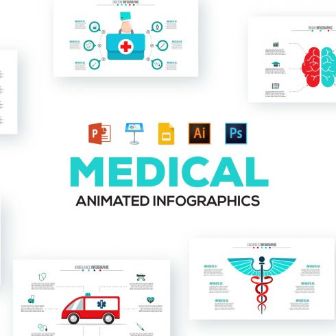 20 Flat Illustrations Animated Presentation - 601 12 490x490