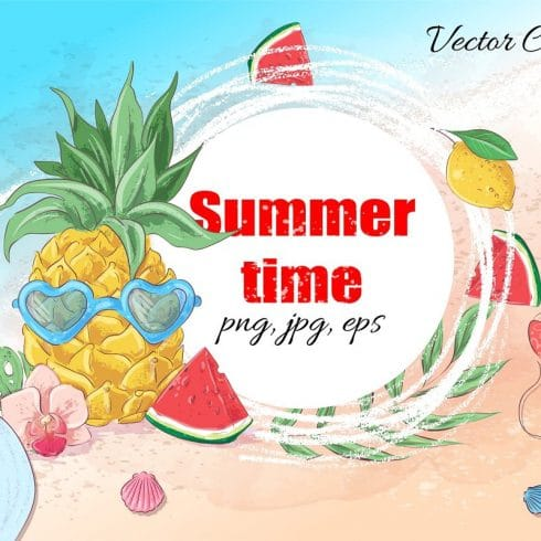 Summer Time Clipart - 38 Individual Elements - 601 5 490x490