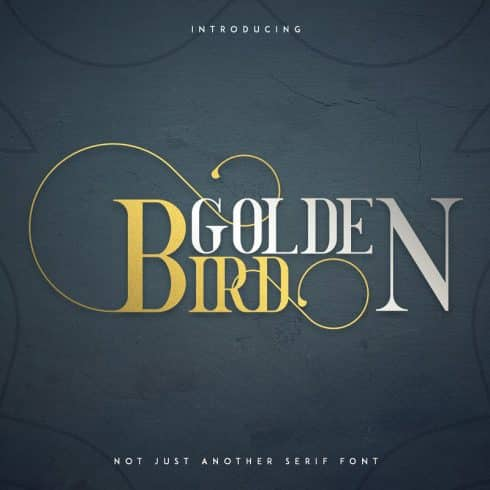 Golden Bird Bundle: 2 Serif fonts & Cool Extras - 602 490x490