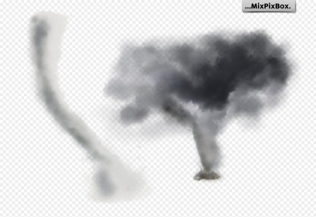 Tornado Design: 12 Tornado Photo Overlays PNG [Photoshop Add-Ons ] - 7 3