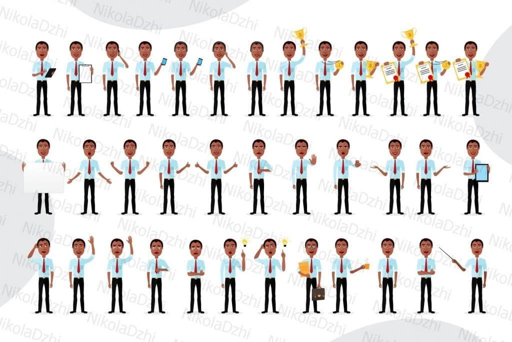 36 African American Man Clipart Vectors - 7a8f3966843f5e7fd50def94947a90bc12a3e12b2fe84b3c2e165d48d2384b64