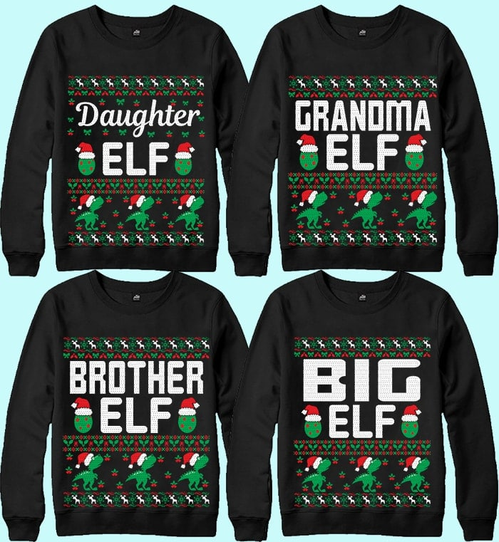 70 Printable Ugly Christmas Sweater Design Bundle - 8 16