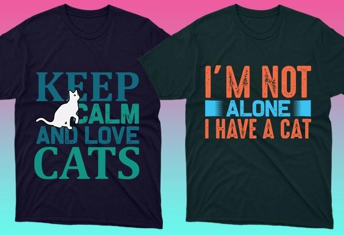 Cat Shirts: 50 Cat T-shirt Designs Bundle - 8 27