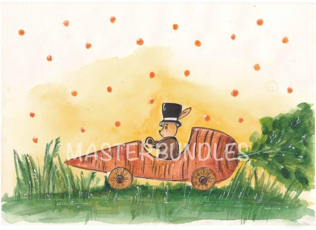 Free Easter Spring Watercolor + Video Tutorial - 800 copy