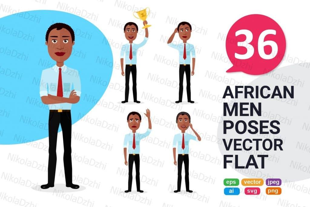 36 African American Man Clipart Vectors - 8f3ac73bd1eac63f0835625d806182a9a9e13977bf54290d17056e7449138482