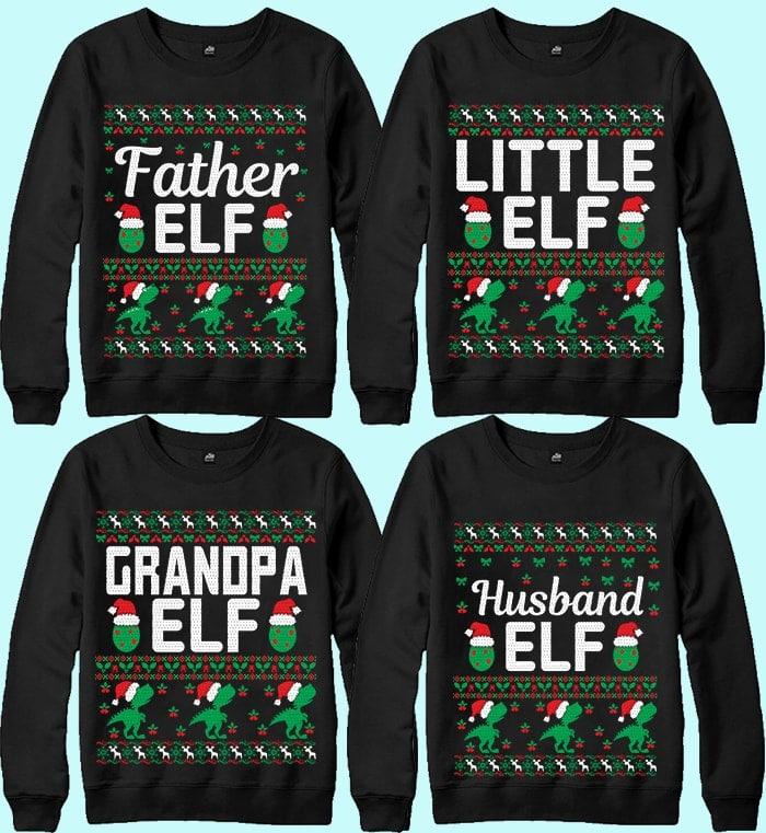 70 Printable Ugly Christmas Sweater Design Bundle - 9 17