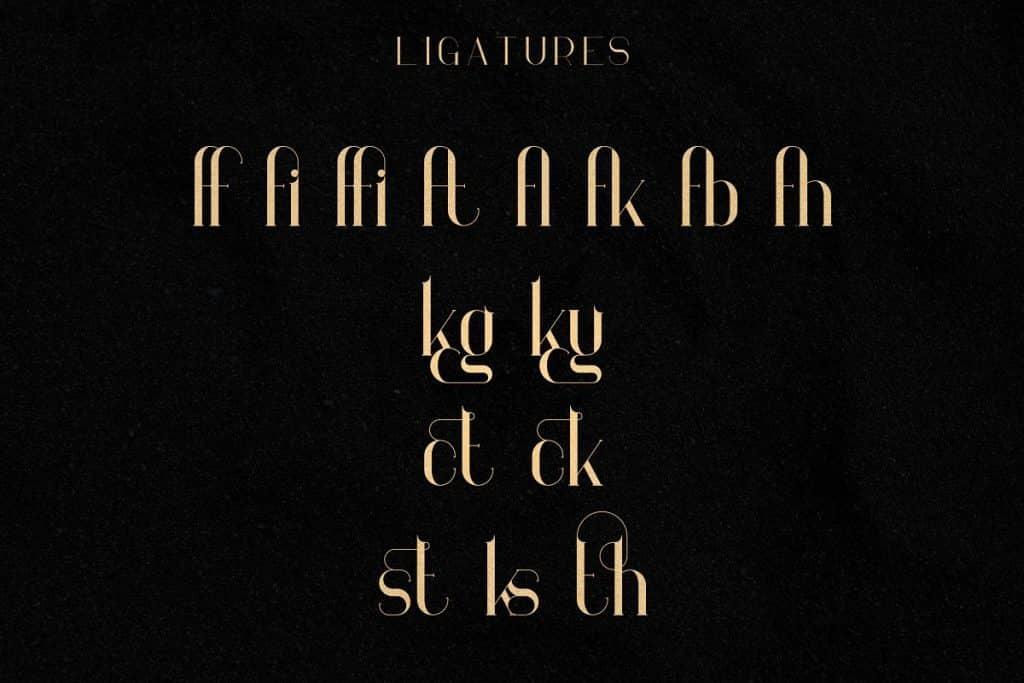 Georgia Luxurious Serif font + Graphics - 9 2 1