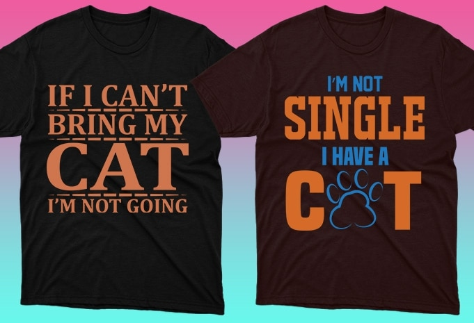 Cat Shirts: 50 Cat T-shirt Designs Bundle - 9 26