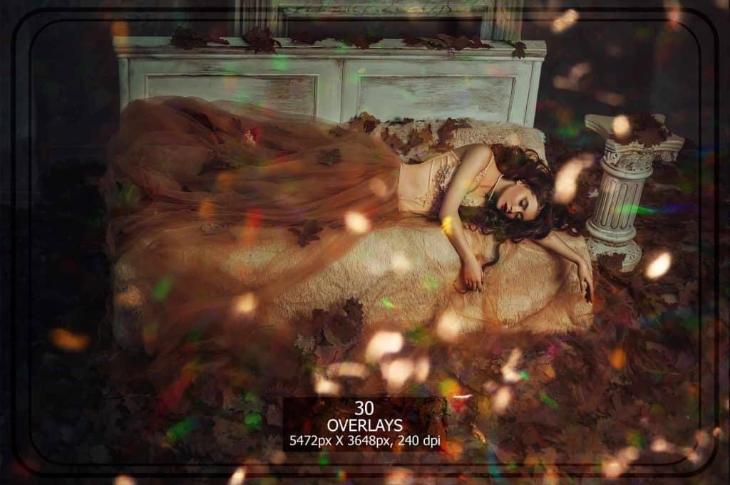 3265 Sparkles png Overlays [27 Gb] - Bokeh Set Gold min