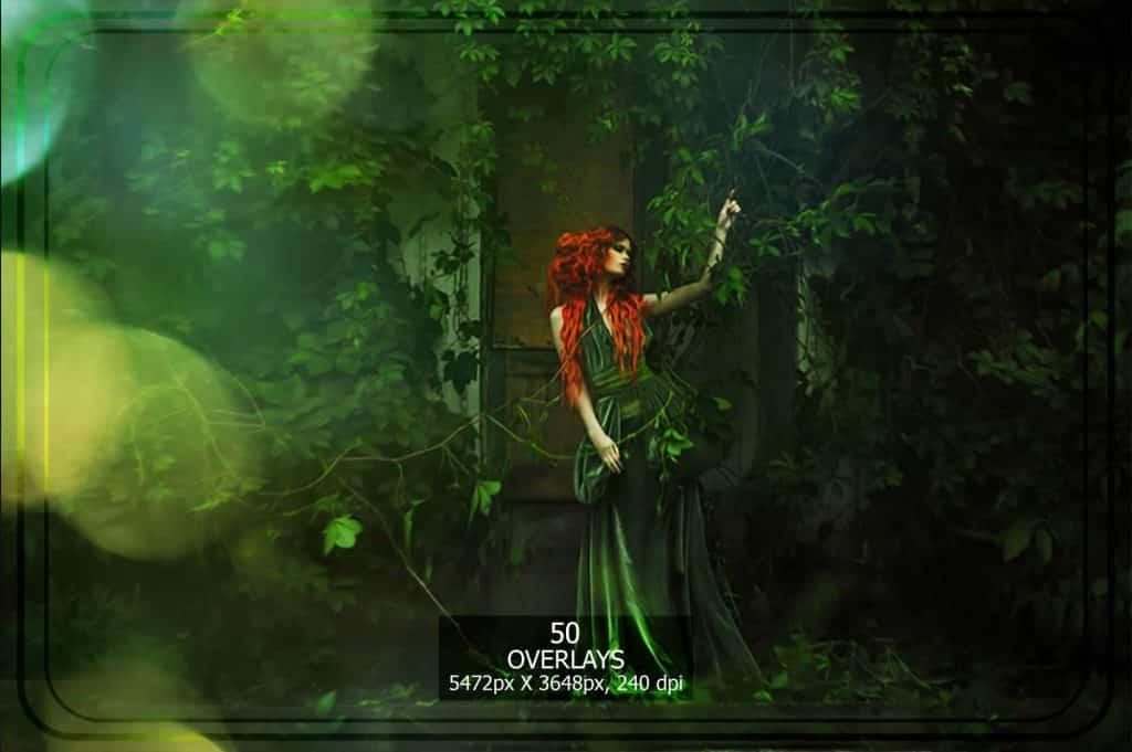 3265 Sparkles png Overlays [27 Gb] - Bokeh Set Green copy min
