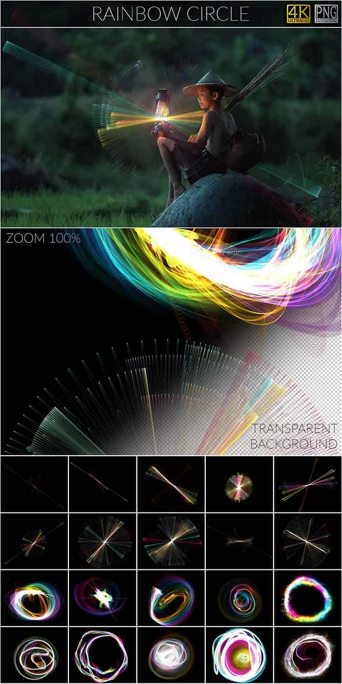 1200 Magic & Myth Overlays - Magic Myth RainbowCircle copy