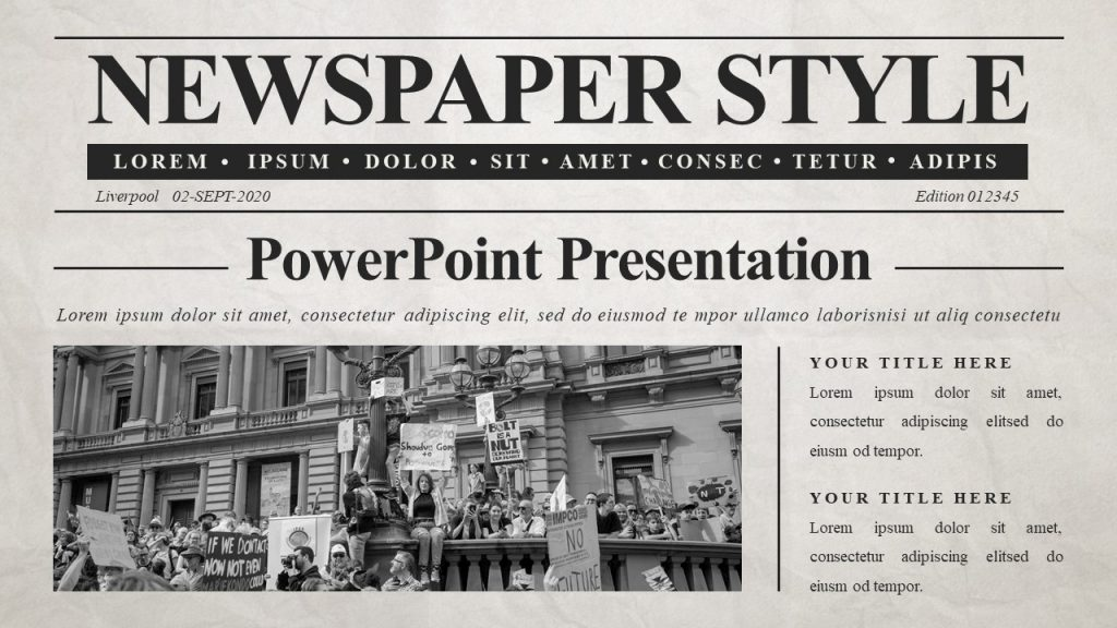 Free Newspaper Google Slides