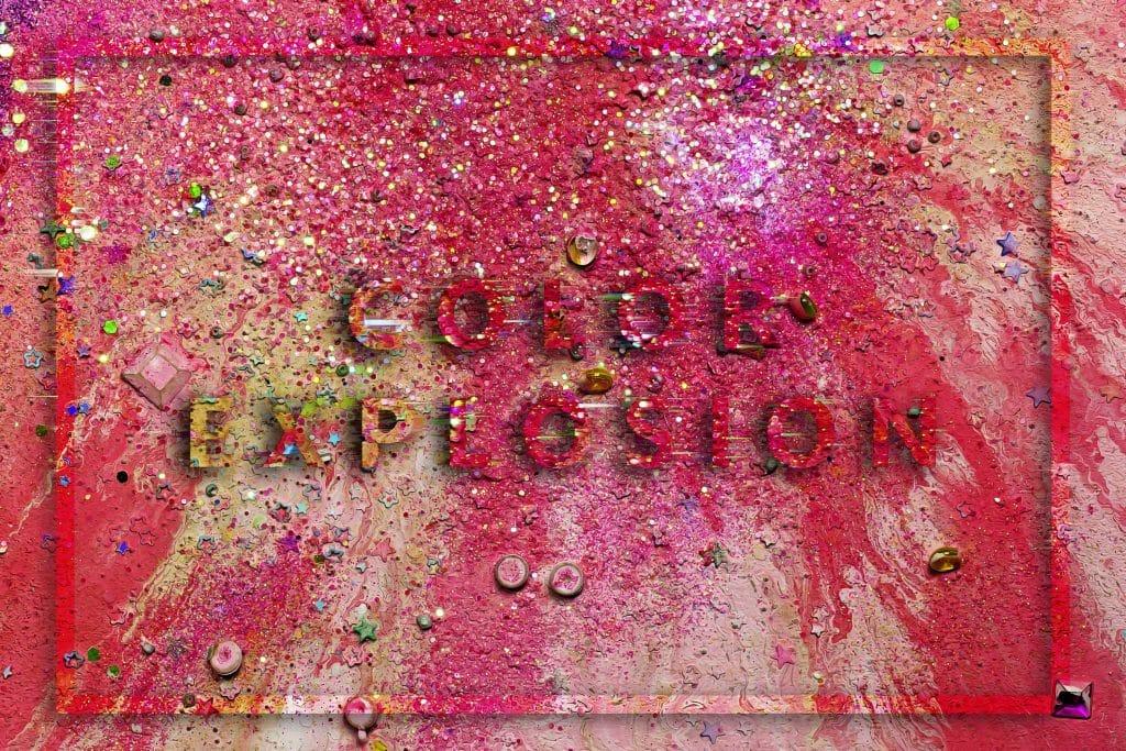 240  Handmade Acrylic Backgrounds | Vibrant Explosive Acrylics - Vol. 1 min