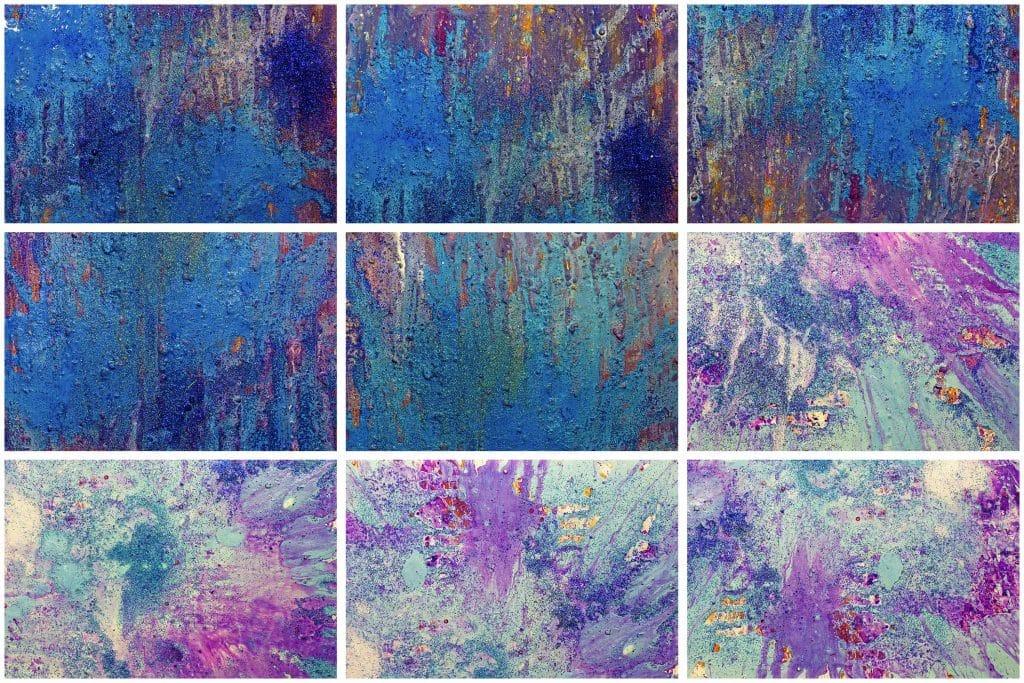 240  Handmade Acrylic Backgrounds | Vibrant Explosive Acrylics - Vol. 2b min