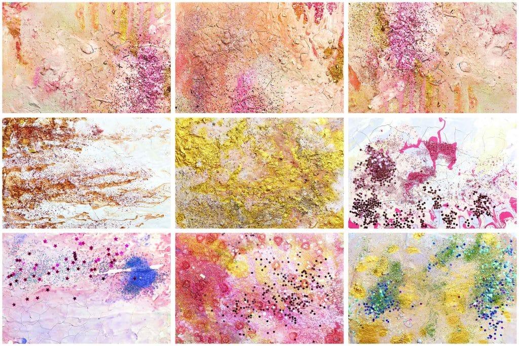 240  Handmade Acrylic Backgrounds | Vibrant Explosive Acrylics - Vol. 5b min