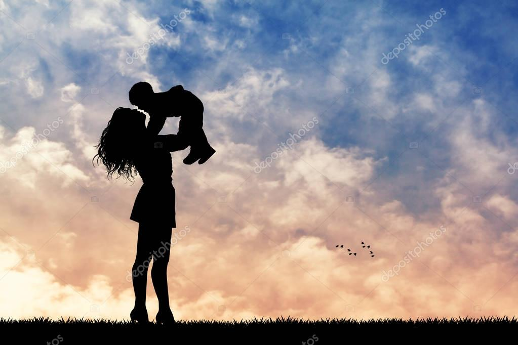 Mother's Day Photo & Clipart Collection - 100 photos - depositphotos 129481724 stock photo mother and son at sunset