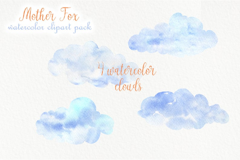 Watercolor Fox: Baby Fox Clipart with Mother - PNG - il 794xN.1931059895 9j9d