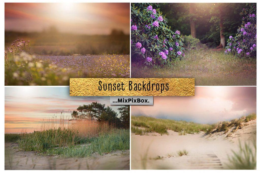 Sunset Backdrops: High Resolution, 300 DPI - sunset backdrops first image