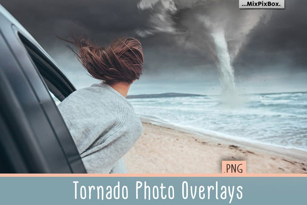Tornado Design: 12 Tornado Photo Overlays PNG [Photoshop Add-Ons ] - tornado first image