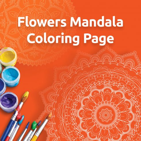 Mandala Coloring Book: 30 Printable Coloring Pages - 01 retina 2 490x490