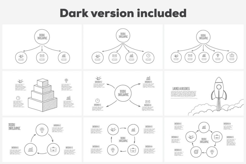 Doodle Presentation: 30 Infographics & Slides AI, PSD, EPS, KEY, PDF - 02