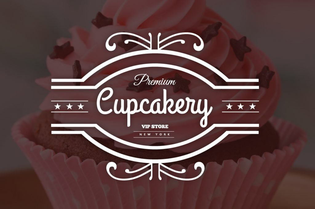 15 Vintage Bakery Logos: Cupcakes & Cakes Logos - 03 1