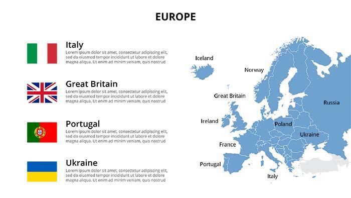 Presentation Clipart Free: 3 Slides Ai, PSD - 06 Europe