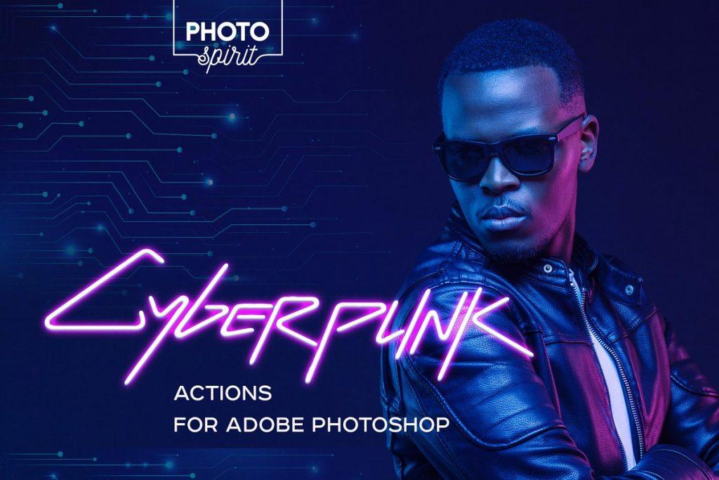 Cyberpunk Photoshop Actions 2020 - 1