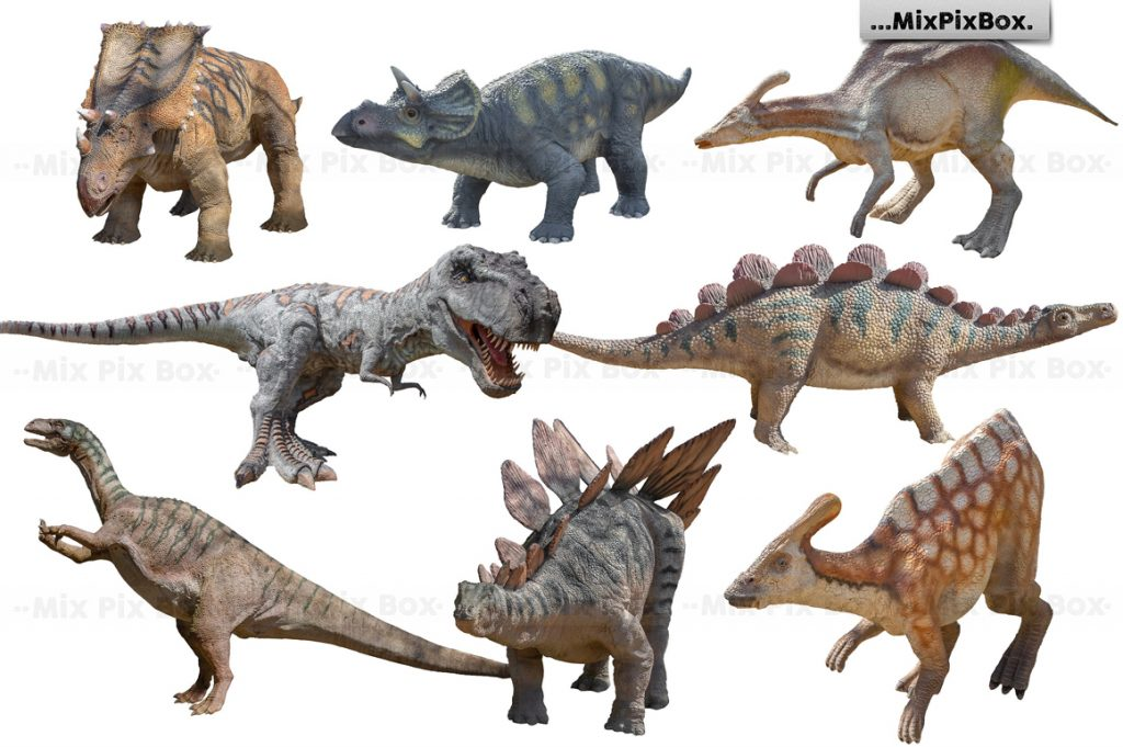 Dinosaur Overlay Bundle: 34 PNG Photo Overlays 🐍 - 2 4