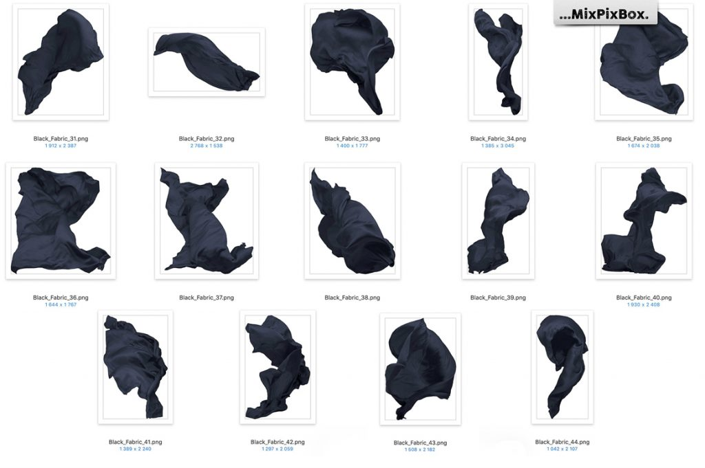 Flying Fabric Overlays for Photoshop