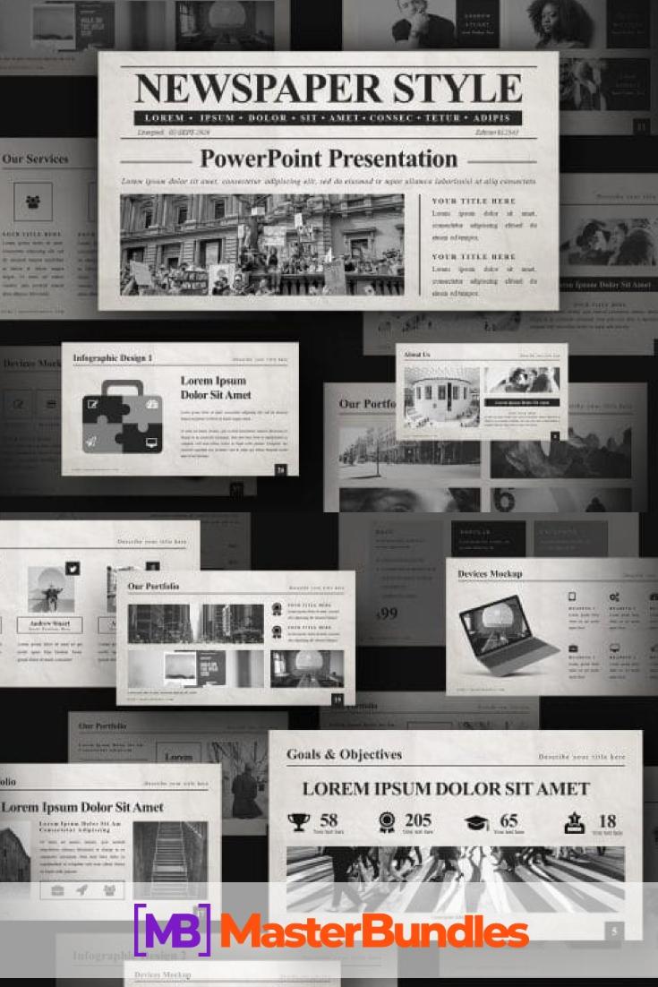 50 Slides Newspaper Templates Powerpoint 2020. Pinterest.