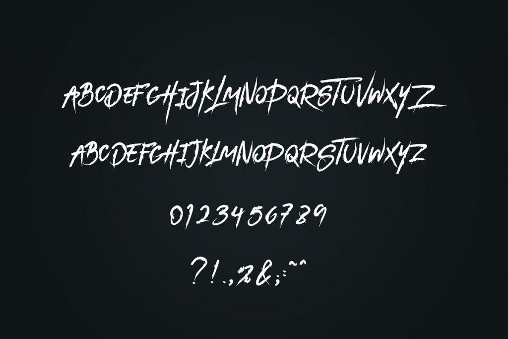 DarkHeart Brush Script Font + Extras - 6 1 1