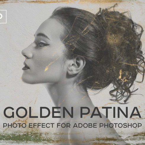 Golden Patina Photo Effect for Photoshop - 600 10 490x490