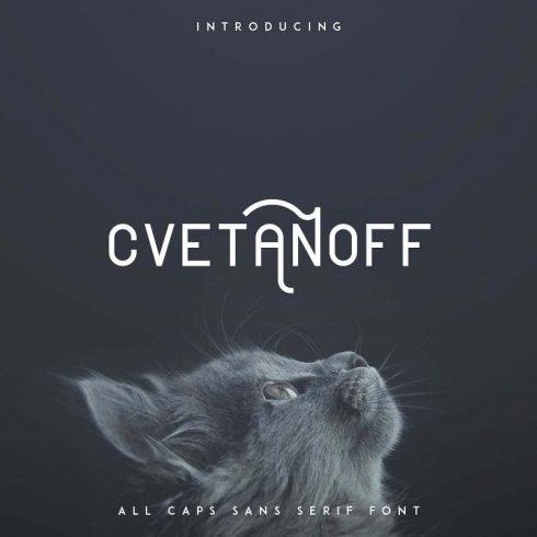 Rounded Sans Serif Font Cvetanoff -30% - 600 14 490x490