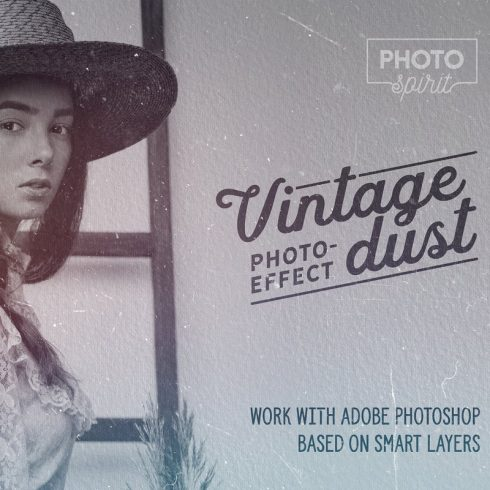 Dust And Scratches Film Effect Photoshop Addons - 600 18 490x490