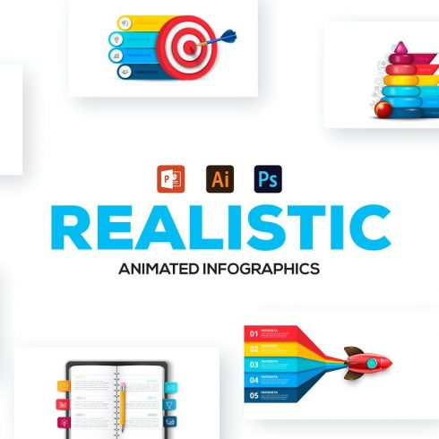 Best Powerpoint Infographics: 36 Animated Realistic Infographic Presentations - 600 21 490x490