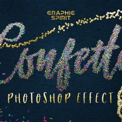 CONFETTI Effect for Photoshop ✨ - 600 22 490x490